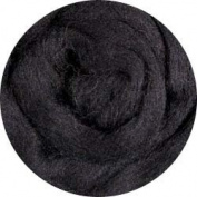 Merino Wool Roving for Felting - 30ml Black