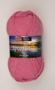 1 X 50g50ml Sportsragg Double Knitting Yarn By Viking Garn #581 - Rose