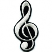 G Clef Treble Musical Note Music Scale Classical Applique Iron-on Patch
