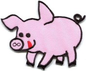Pig sow hog swine boar livestock farm animal applique iron-on patch