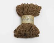 100g100ml Eco Organic Superfine Pure Alpaca Chunky Yarn By Viking Garn #408 - Camel