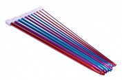 HotEnergy 11 Sizes Multi-colour Aluminium Crochet Hooks Knitting Kits Needles USA ship