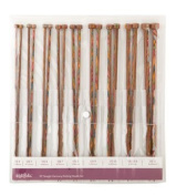 Knit Picks Rainbow Wood Straight 36cm Knitting Needle Set