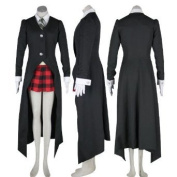 Albarn Maka Costume Outfits Black Suit for Soul Eater Cosplay Costume Xcoser Please Email us your Size