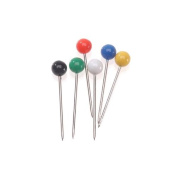 Darice 4mm Map Pins with Coloured Heads, Assorted Colour