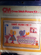 "Cross Stitch Picture Kit 30cm X 23cm ""Don't Rush Me!! Bath Scene"