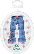 So Chic Mini Counted Cross Stitch Kit
