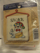 Stitch 'N Hang Counted Cross Stitch Kit - Finished Size 7.6cm X 10cm - Item 4451 - Kiss