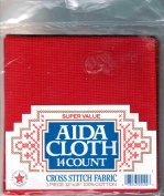 Aida Cloth 14 Count Cross Stitch Fabric 30cm By 46cm 100% Cotton Red