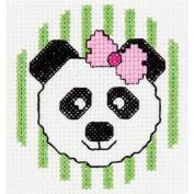 Bucilla 45425 Panda Mini Counted Cross Stitch Kit