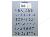 1.3cm Alphabet & Numbers Quilting Stencil By QCI - 1 Stencil