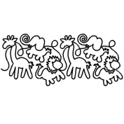 Quilt Stencils By Patricia Ritter-13cm - 1.3cm Circus Animals