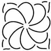 3.75 Flower Quilting Stencil