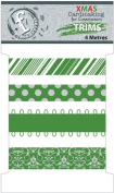 Fundamentals Trims 4 Metres/Pkg (4.37 Yards)-Christmas Green 4 Styles/1 Metre Each