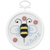Janlynn What's The Buzz Mini Counted Cross Stitch Kit