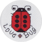 Janlynn Love Bug Mini Counted Cross Stitch Kit