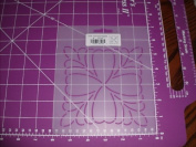 13cm Feathered Square Quilting Stencil