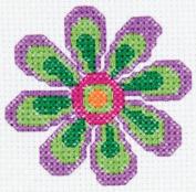 Bucilla 45444 Mini Flower Counted Cross Stitch Kit, 13cm by 19cm
