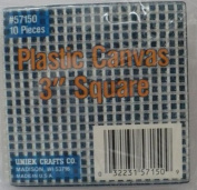 Plastic Canvas 7.6cm Square - Clear - 10 Pieces/Pkg