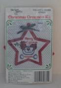 New Berlin Mini Christmas Star Ornament Counted Cross Stitch Kit - Merry Eggsmas 7.6cm x 7.6cm Chicken with Eggs