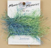 Little Bits Blue/Green Variegated Furry Memory Fibres - 3.5 yards -- Moments 'n Memories - #168-0227