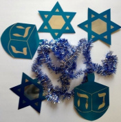 6 Foot Hanukkah Garland Decoration - Stars of David & Dradles