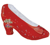 WIZARD OF OZ RUBY RED SLIPPERS 70cm BALLOON BIRTHDAY DOROTHY MOVIE & FREE RIBBON