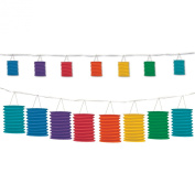 Beistle 54568-RB Rainbow Lantern Garland, 12-Feet