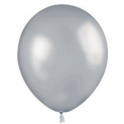 100 Count 11' Latex Balloons Silver