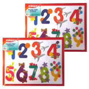 PLAYSKOOL 36cm x 28cm 12 Piece Number Puzzle With Frame Tray(2 Pack) Great Gift!