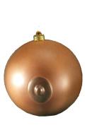 Forum Novelties Adult Novelty Holiday Ornament, Brown Boob Ball