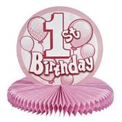 Paper 1st Birthday Pink Centrepiece