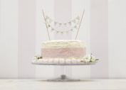 Ginger Ray Just Married Vintage Wedding Cake Bunting In Ivory - Wedding Cake Topper