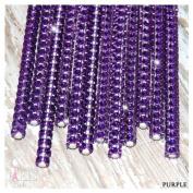 "Purple bling cake pop sticks, rhinestone cake pop sticks, candy buffet sticks, bling lollipop sticks 6"" 15.2 Cm - 12 Ct Set"