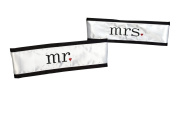 Spring Rose(TM) Mr. and Mrs. Wedding Chair Sash. These Are the Cutest Decorations on Your Chairs. Make Sure This Is On Your List of Supplies for Your Big Day.