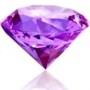 Beautiful Gaint Birthstones Paperweight Glass Diamond 80mm Crystal, Light Purple