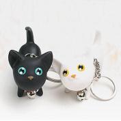 Cute Couple Cat Keychain
