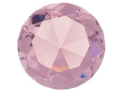 Beautiful Gaint Birthstones Paperweight Glass Diamond 10cm Crystal, Light Pink