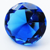 Beautiful Gaint Birthstones Paperweight Glass Diamond 10cm Crystal, Light Blue