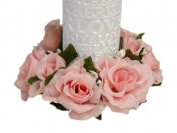 8 pcs Silk ROSES Flowers Candle Rings Wedding Centrepieces