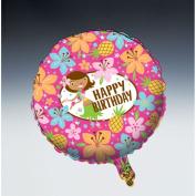 Creative Converting Pink Luau Fun Metallic Balloon, 46cm