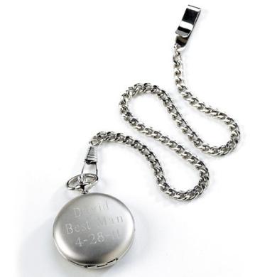 Silver Brushed Pocket Watch - GC225