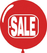 """Red & White """"SALE"""" Balloons"""