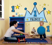 Party Destination 159454 Lil Prince 1st Giant Wall Decals