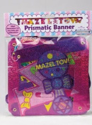 Rite Lite MTB-13173-G Large Mazel Tov Baby Girl Colourful Prismatic Banner - Pack Of 12