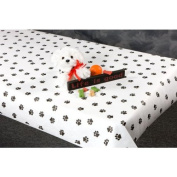 100 Foot Paw Print Paper Table Cover