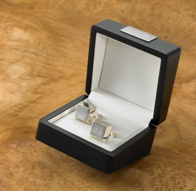 Personalised Regency Sterling Silver Plated Cufflinks