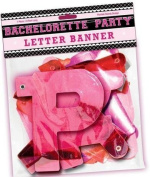 Bachelorette Party Letter Banner (Package Of 6) Half Case