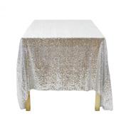 Koyal Wholesale Rectangle Sequin Tablecloth, 230cm by 340cm