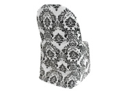 50 Black White Damask Flocking Folding CHAIR COVERS
